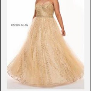 Rachel Allen Plus Size prom dress